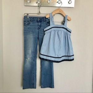Girl tank + jeans bundle Cat & Jack Gymboree